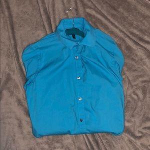 Blue Men's Button up